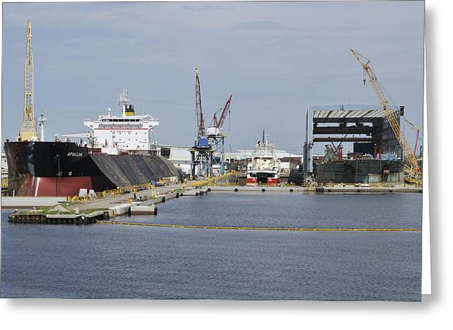 Tampa Shipyard Greeting Card