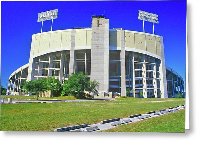 Tampa Stadium, Home Of The Buccaneers Greeting Card