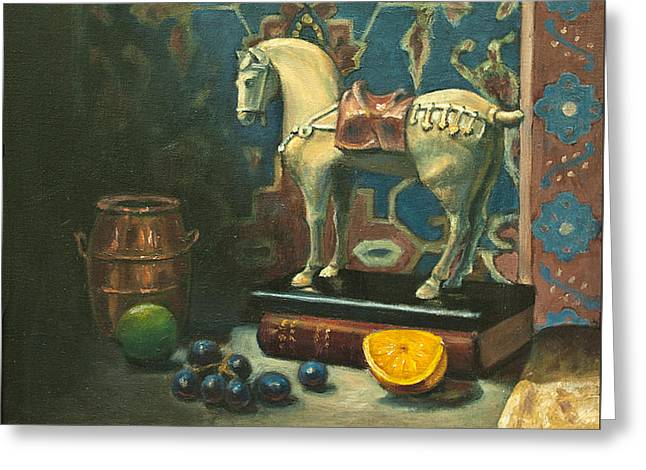Tang Horse Greeting Card by Sarah Parks