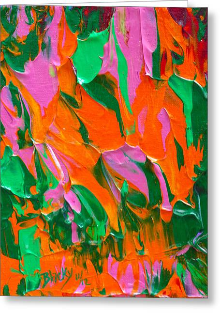 Tangerine And Lime Greeting Card by Donna Blackhall