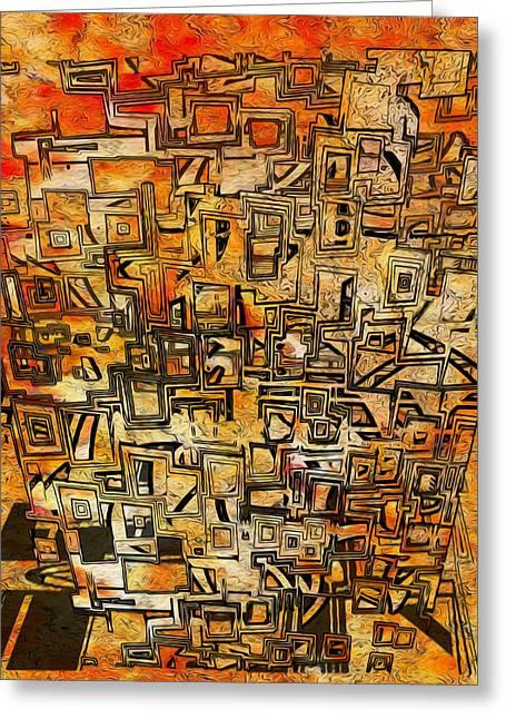 Tangerine Dream Greeting Card by Jack Zulli