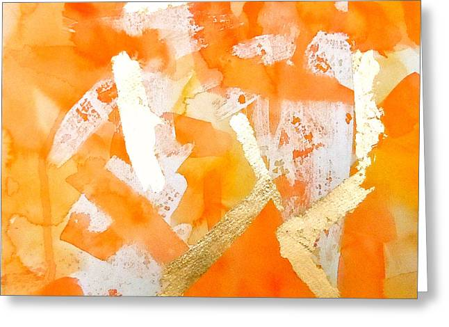 Tangerine Tango Greeting Card by Roleen  Senic