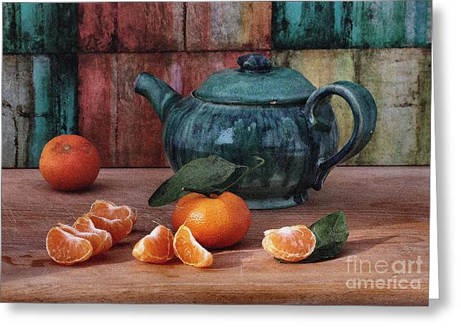 Tangerines Greeting Card by Luv Photography