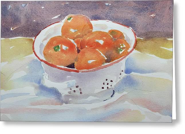 Tangerines Greeting Card by Owen Hunt