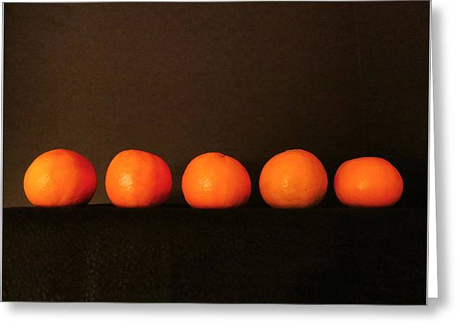 Tangerines Greeting Card by Patricia Januszkiewicz