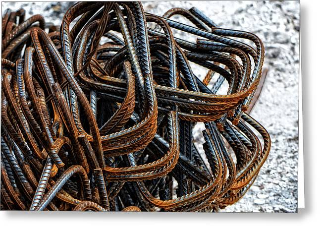 Tangled - Industrial Photography By Sharon Cummings Greeting Card