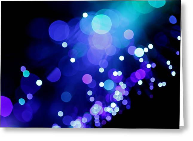 Tangled Up In Blue Greeting Card by Dazzle Zazz