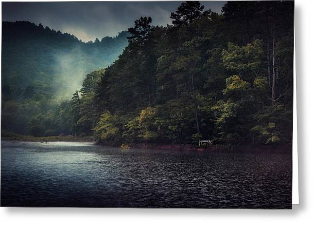 Tanglewood Lake Greeting Card by William Schmid