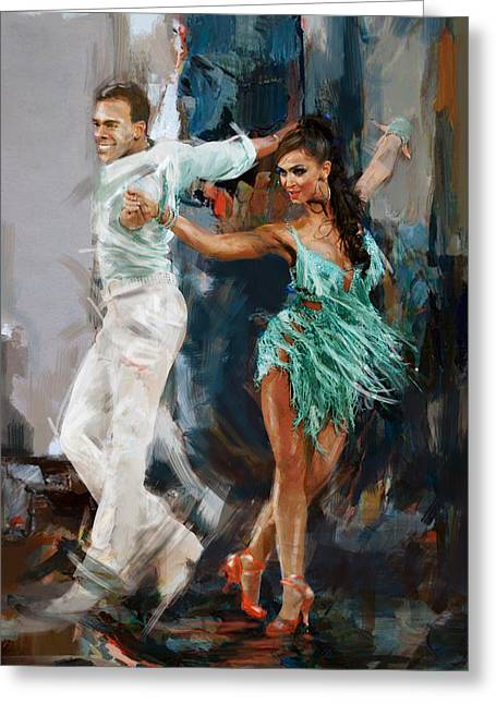 Tango 4 Greeting Card by Mahnoor Shah