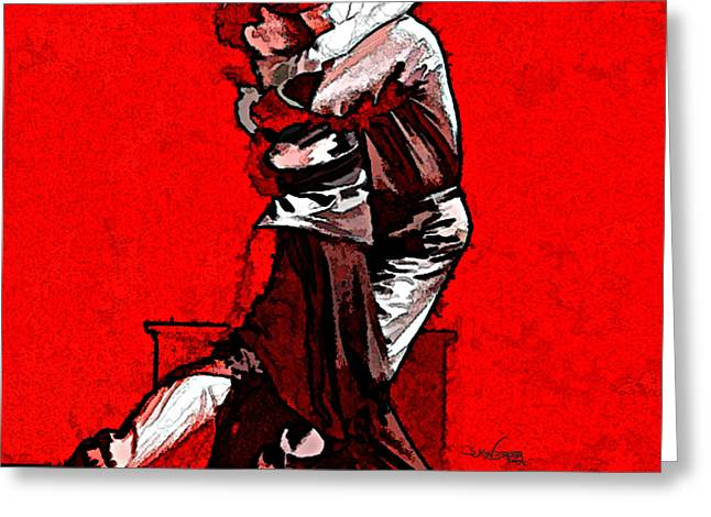 Tango Argentino - Melting Together Greeting Card by Reno Graf von Buckenberg
