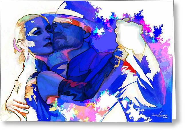 Tango Argentino - Pride And Devotion Greeting Card by Reno Graf von Buckenberg