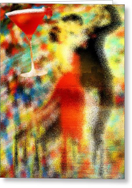 Tango As The Sunset Greeting Card by Kenal Louis