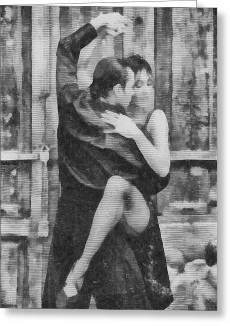 Tango Greeting Card by Ayse Deniz