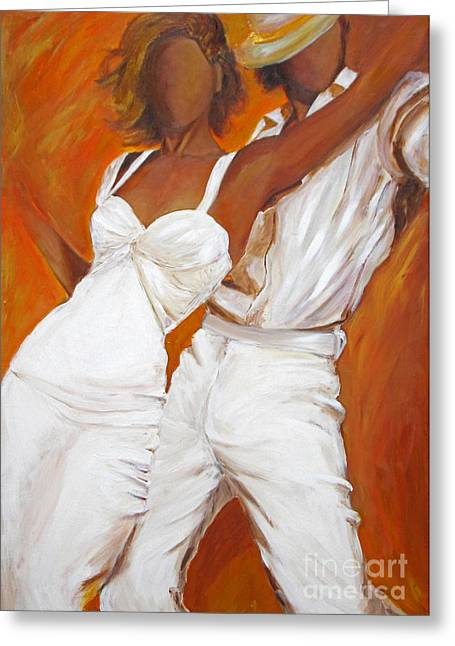 Tango Blanco Greeting Card by Sheri  Chakamian
