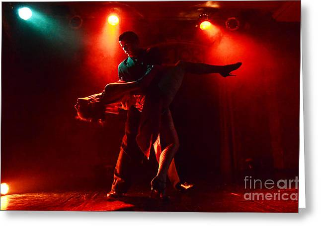 Tango Buenos Aires Argentina 3 Greeting Card by Bob Christopher