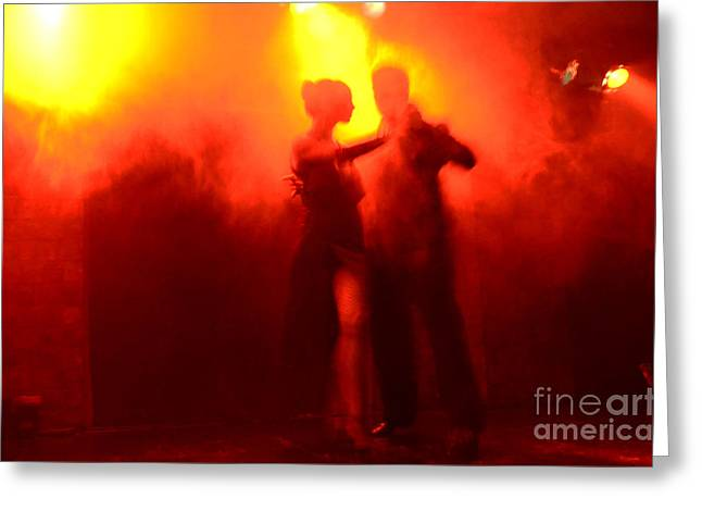 Tango Buenos Aires Argentina 6 Greeting Card by Bob Christopher