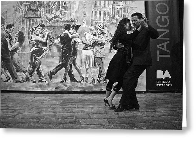 Tango Dancers In Buenos Aires Greeting Card