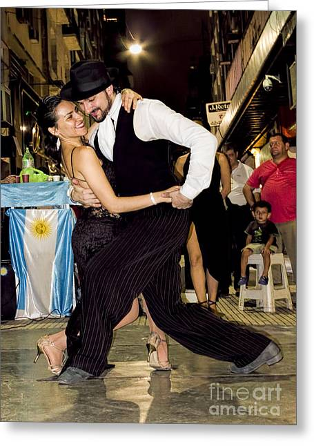 Tango Dancing In Buenos Aires Argentina Greeting Card