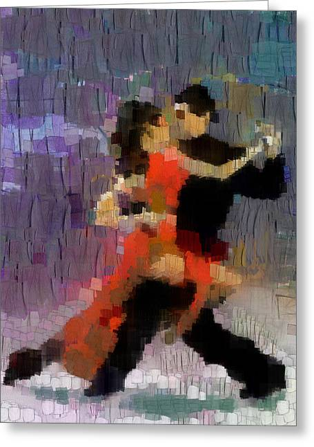 Greeting Card featuring the painting Tango by Georgi Dimitrov
