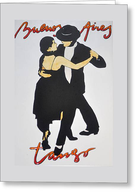 Tango In Buenos Aires Greeting Card