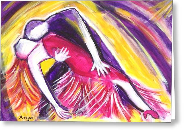 Greeting Card featuring the painting Tango Love by Anya Heller