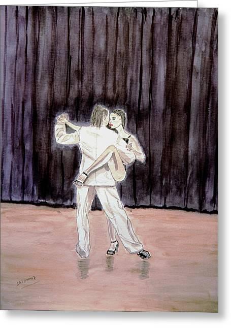 Tango Passion. Greeting Card by Shlomo Zangilevitch