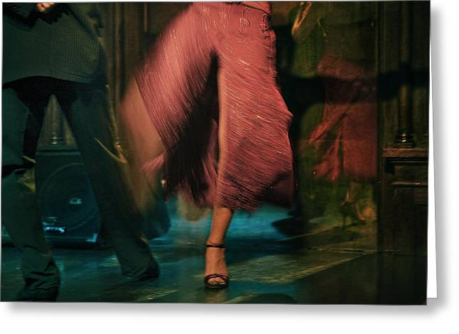 Greeting Card featuring the photograph Tango - The Dance by Michel Verhoef