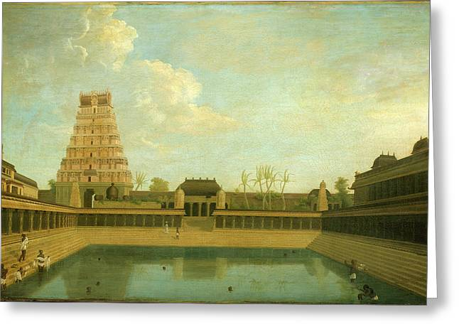 Tank In The Shiva Temple Greeting Card by British Library
