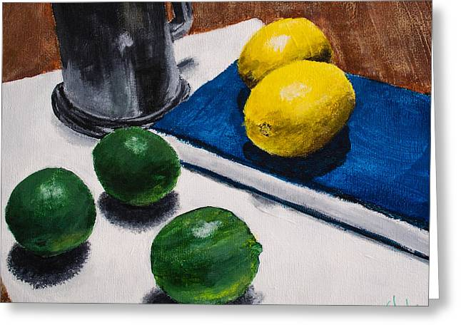 Tankard And Citrus 8x10 Greeting Card by Stephen Nantz