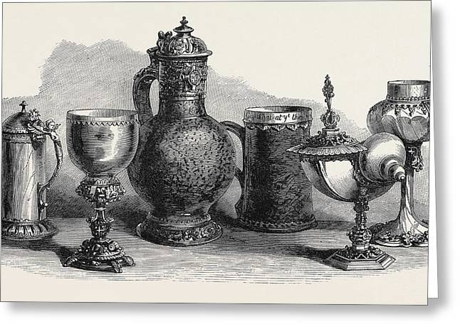 Tankards Goblets And Cups Art Loan Collection South Greeting Card by English School