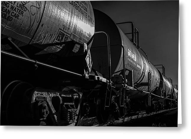 Tanker Cars Greeting Card by Bob Orsillo