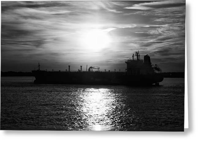Tanker Twilight Greeting Card