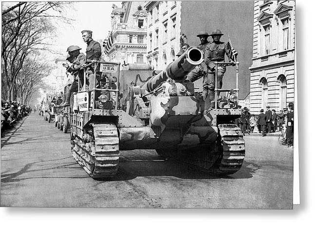 Tanks On Fifth Avenue Greeting Card