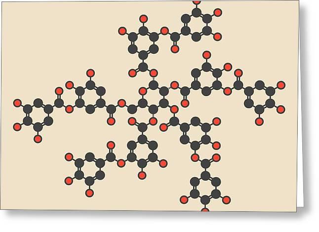 Tannic Acid Molecule Greeting Card