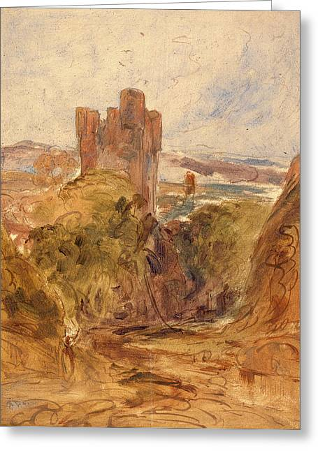 Tantallon Castle , A Study, Unknown Artist Greeting Card by Litz Collection