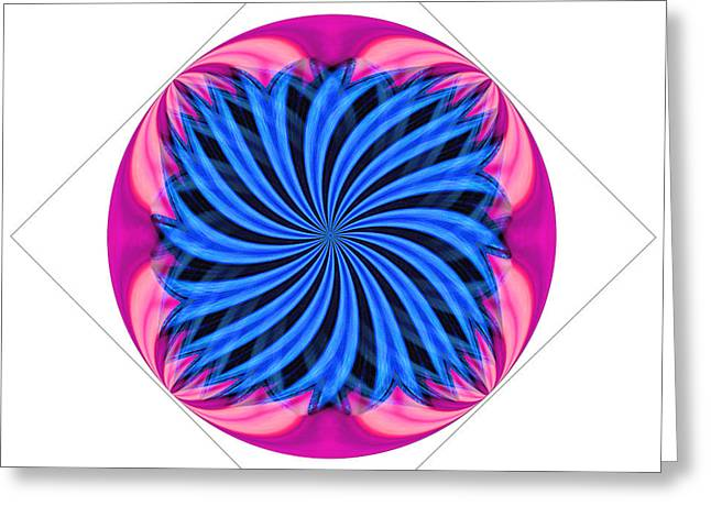 Tantric Flower Greeting Card
