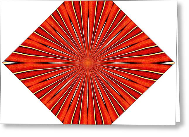 Tantric Orange Greeting Card