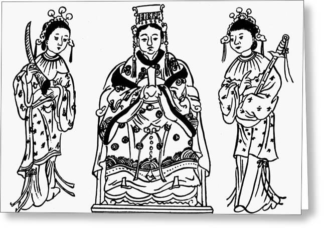 Taoism Matsu P'o Greeting Card by Granger