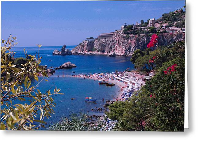 Taormina Beach Greeting Card by Dany Lison