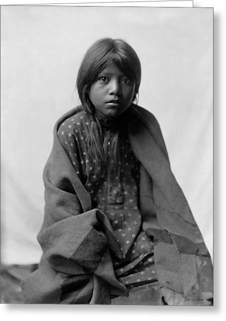 Taos Girl Circa 1905 Greeting Card by Aged Pixel