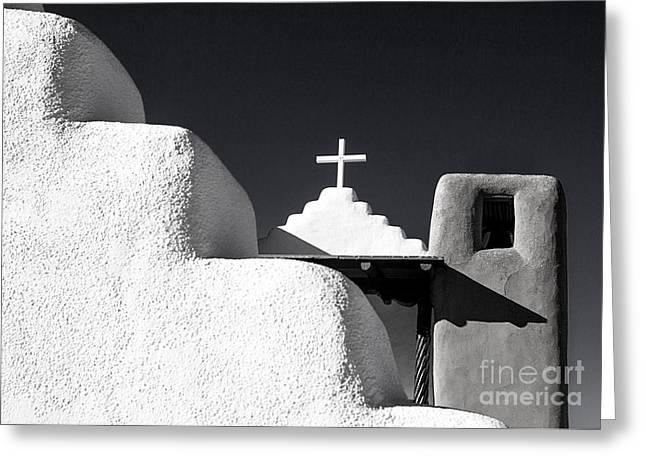Taos Pueblo Chapel Greeting Card