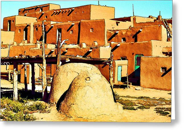 Taos Pueblo II Greeting Card by Dan Dooley