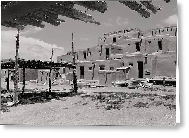 Taos Pueblo North House Greeting Card by Gordon Beck