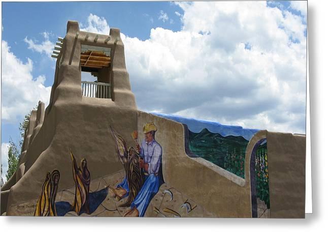 Taos Wall Art Greeting Card by Patricia Januszkiewicz