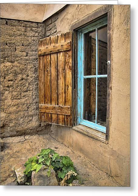 Taos Window Greeting Card by Ann Powell