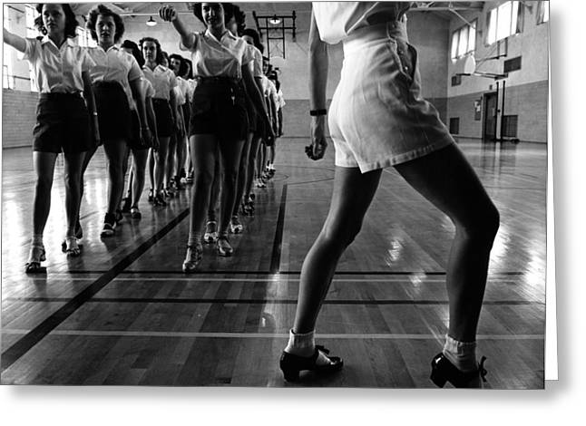 Tap Dancing Class 1942 Greeting Card by Mountain Dreams