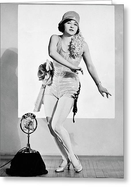 Tap Dancing On Nbc Radio Greeting Card by Underwood Archives