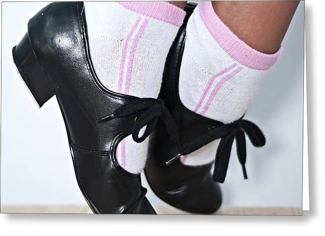 Tap Dance Shoes From Dance Academy - Tap Point Tap Greeting Card by Pedro Cardona