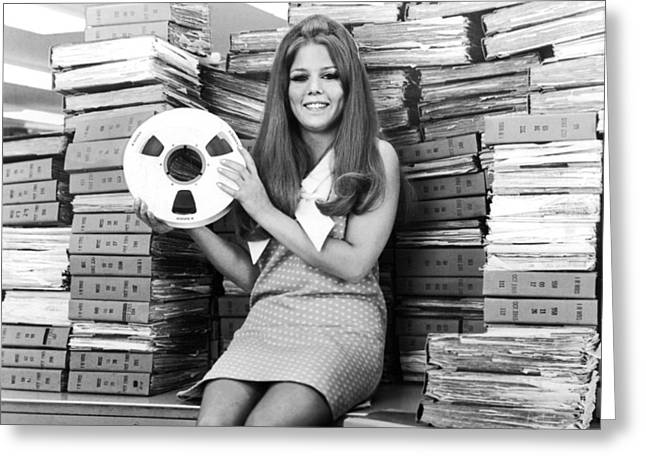 Tape Reel Stores Document Greeting Card by Underwood Archives