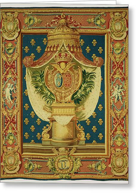 Tapestry Chancellerie Executed By Etienne-claude Le Blond Greeting Card by Litz Collection